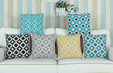 "Home Decorative Cushion Covers Pillows Shell Cute Geometric Chain Design 18""X18"""