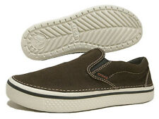 Crocs Hover Slip-On Canvas Loafer Espresso Stucco All Size $50 SALE