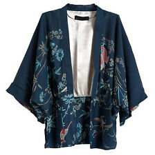 Vintage Retro Women Ethnic Phoenix Loose Style Kimono Cardigan Jacket Coat