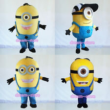 【SALE】 NEW DESPICABLE ME MINION MASCOT COSTUME ADULT SIZE MULTIPLE CHOICES