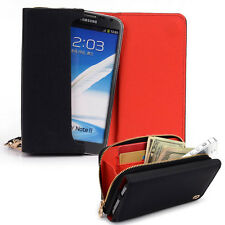 Kroo Signature Wristlet Wallet Case Handbag fits Allview and Mobile Cell Phones