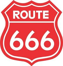 """Route 666 Road Sign Decal 4""""x4"""" Highway to Hell Sticker"""