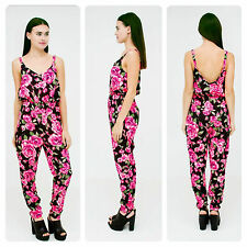Girl In Mind Mollie Floral Print Jumpsuit SIZE 8 10 12 14