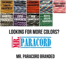 MR PARACORD AWARENESS 550 PARACORD PARACHUTE CORD TYPE III SPEC 7 STRAND