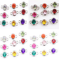 Hot Sell 20/100pcs Mixed Color Clear Czech Crystal Link Connector Beads 6/8/10mm