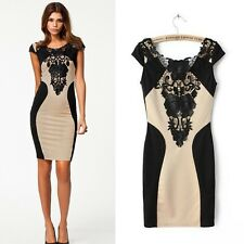 Sexy Fashion Lace Sleeve Sexy Formal Party Cocktail Evening Slim Bodycon Dress