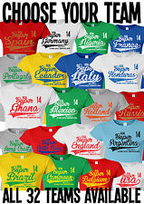 Ladies Football World Cup 2014 Brazil Super Style TShirt Choose Your Team *Sale*