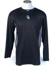 Nike Pro Combat Dri Fit Colorado Rockies Fitted Long Sleeve Athletic Shirt Mens