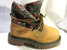 Timberland TODDLER KIDS Unisex Roll-Top Leather Yellow Boots Shoes 8183R USA