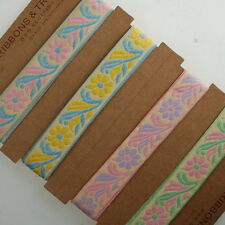 Neotrims 20mm Brocade Pastel Colours Ribbon Online By The Yard Ribbons Wholesale