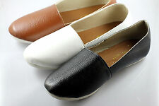 3 color , Womens Comfy Casual w/ PU Leather Slip-on Flats Shoe x 1 pair