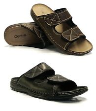 Mens New Velcro Walking Summer Beach Flip Flop Cushioned Mules Sandals Shoe Size