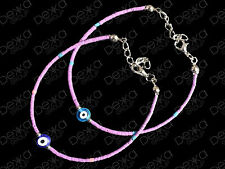 Evil Eye Bracelet Purple Lucky Beads Turkish Nazar Ottoman Greek Mati