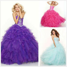 Organza Ball Gown Quinceanera Evening Dress Formal Pageant Prom Dresses 4 -20