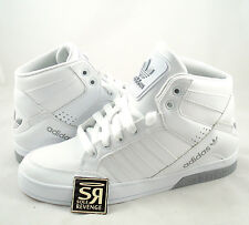 New Adidas Originals Mens HARD COURT HI 3 White Gray Shoes hardcourt high top