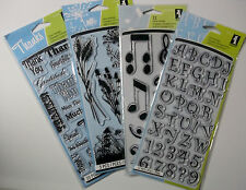 Inkadinkado clear Acrylic Stamps  Your Choice $4.99 each NIP