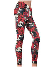 Liquorbrand Skull Rosary Punk Leggings Day of the Dead Gothic Horror Goth