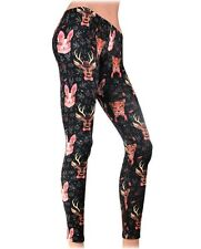 Liquorbrand Animals Stretch Tattoo Punk Leggings Rockabilly Pinup Retro Pants