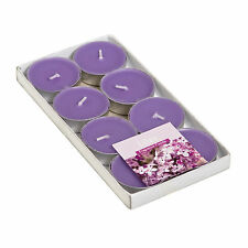 8pcs set Scented Tealight Candles, Lilac Ocean Pear Tropical Vanilla Strawberry