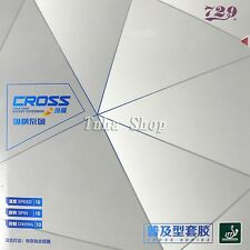 4x RITC729 Cross Universal Pips-In Table Tennis Rubber with Sponge