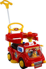 Baby Car ARTI Fire Engine 530W Red Toddler Ride-On Push Along + Parent Handle