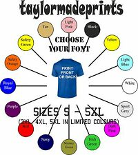 Personalised custom print design your own t-shirts