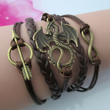 Game of Thrones inspired dragon bracelet 4 colours,black brown pink white