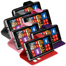 PU Leather Wallet Flip Case Cover For Nokia Lumia 925