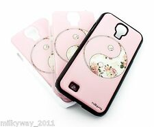#108 For Samsung Galaxy S4 Case Cover FLORAL YIN YANG balance good evil flower