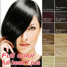 100% Real Human Hair Full Head Clip in Remy Hair Extensions  Local Delivery