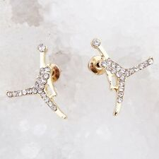 MICHAEL JORDAN JUMPMAN CZ STUD EARRINGS-CHOOSE COLOR