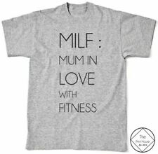 MILF Fitness T Shirt Top Womens Girls Workout Gym Hipster Vogue Tumblr Love Dope