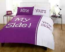 My Side, Your Side Plum Duvet Set Double King