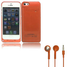 Orange Battery Case for Apple iPhone 5/5S Portable Charger 2200mAh Charging Pack