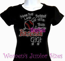 Baseball GiGi - Home Run - Rhinestone Iron on T-Shirt - Hot Fix Bling Sports Top