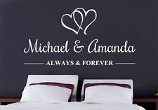 ALWAYS & FOREVER PERSONALIZED Decal WALL STICKER Lettering Art Decor Name SQ72