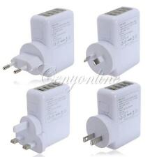 2.1A 4 Port USB Home Travel Wall AC Power Charger Adapter For iPhone Galaxy iPad