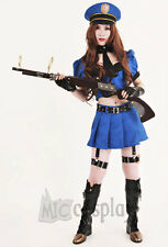 League of Legends Sheriff of Piltover Caitlyn Blue Cosplay Costume Girl's Dress