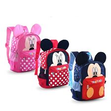 Girls Boys Cute Cartoon Minnie Mouse Mickey Mouse Backpack Kids Casual Schoolbag