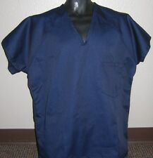 $2 ea. Scrub tops, navy blue twill lot of 30- S, M, L, 2X, 3X mix or match sizes