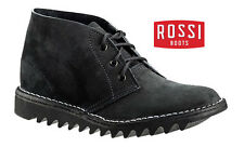 Rossi Leather Desert Boots DB Ripple Sole Brand New Suede Black