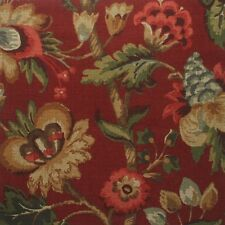 "72"" Elizabeth Floral Cardinal Red Fabric Shower Curtain Cotton"