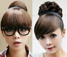 Girl's One piece hair extensions Bangs/Fringes with hair bands/Headband B8100