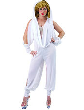Adult Australian Popstar White Fancy Dress Costume Outfit