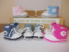 Knitting Patterns For Baby Trainers : baby knitted trainers pattern eBay