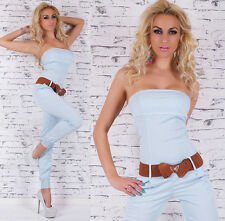 Italy Designer Jumpsuit Overall + Butterfly Belt - S / M