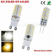 Ultra Bright G4 G9 3014 SMD 3W 5W Crystal Light Spotlight Lamp Cool/Warm White