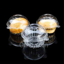 10/20/50/100X Thin Plastic Cupcake Cake Muffin Dome Case Holder Boxes Container