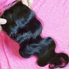 Brazilian Virgin Hair Lace Closures Body Wave Silky Straight Fast Shipping