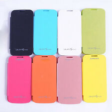 Battery Housing PU Leather  Flip Cover Case for Samsung Galaxy S4 SIV mini I9190